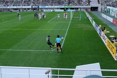 生坂サッカースクール(ISS) 松本山雅FCの試合観戦 コーナーキック