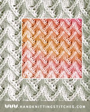 Hand Knitting Stitches - Zig Zag Lace Pattern #knitlace #lacepatterns