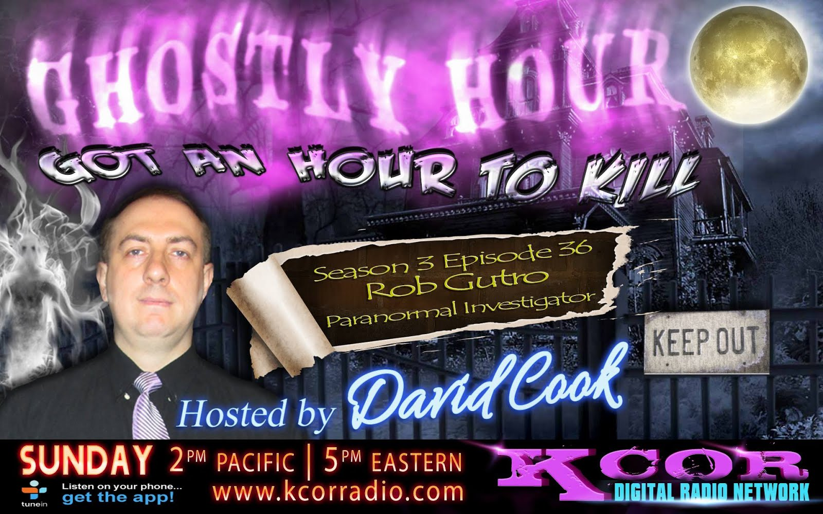 Rob Gutro on UK's Ghostly Hour show!
