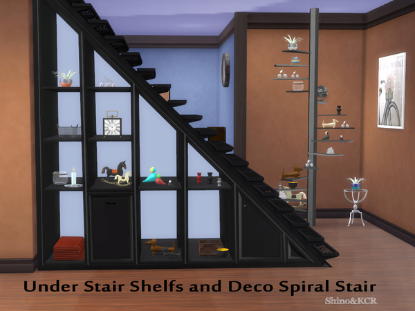 My Sims 4 Blog Shinokcr S Under Stair Shelves And Deco