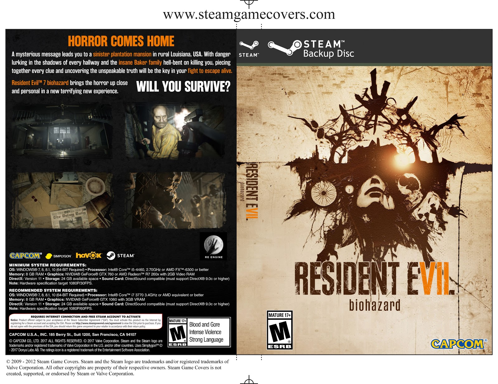 Capa Resident Evil 7 PC Steam