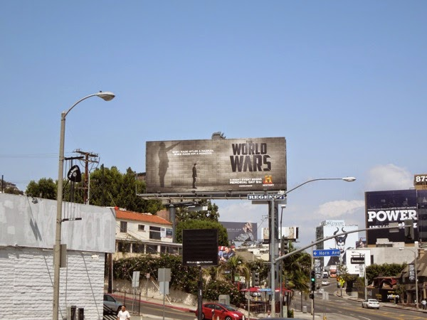 Hitler World Wars History billboard Sunset Strip