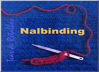 Ilustração mostrando a técnica de tecer chamada naldinbing, que inspirou a técnica de tricotar.