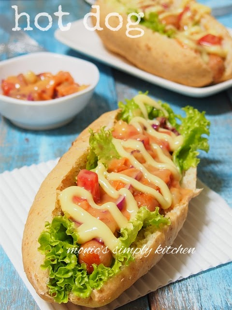 resep hot dog homemade mudah