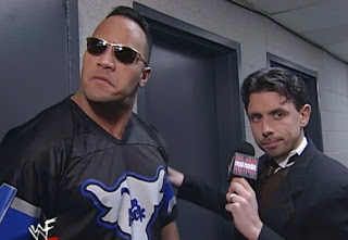 WWE / WWF Royal Rumble 2000 - Michael Cole interviews The Rock
