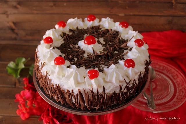 Tarta selva negra. Julia y sus recetas