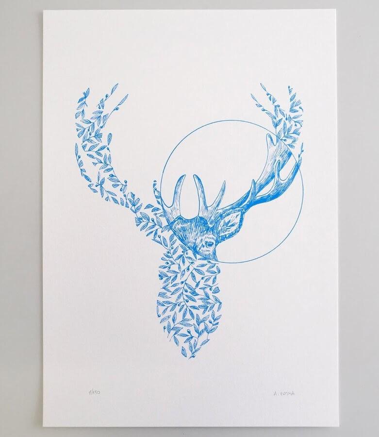 02-Flower-Deer-Alfred-Basha-www-designstack-co