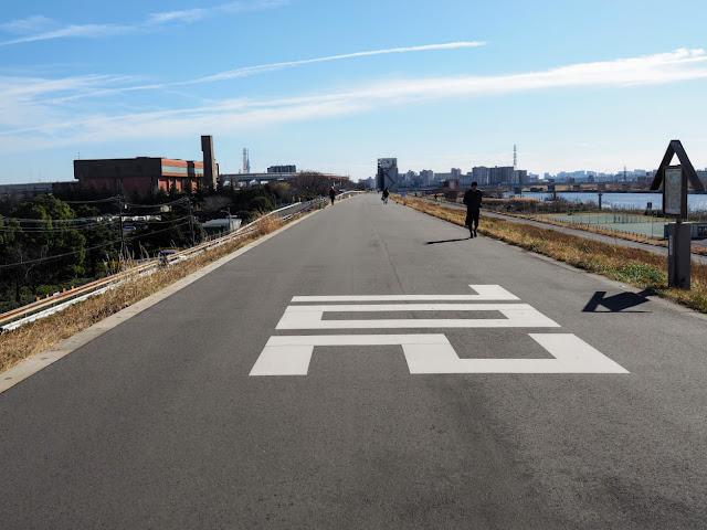 荒川自転車道 左岸海から20km