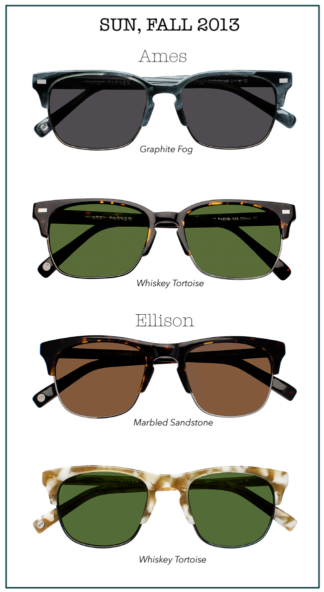 Warby Parker Fall 2013 Sunwear collection