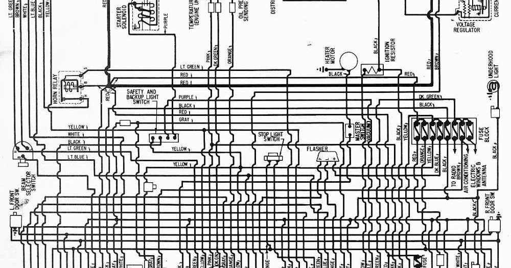 Wiring Diagrams 911: Wiring Diagram of 1957 Oldsmobile All
