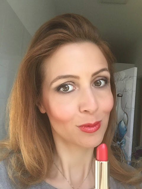 Clarins Joli Rouge Brillant 213 Cherry review - swatches su Fashion and Cookies beauty blog, beauty blogger