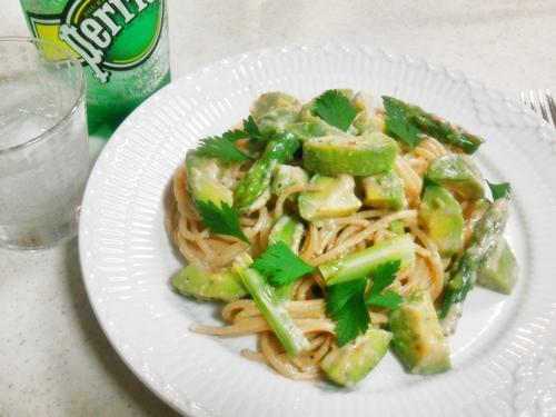 Whole Wheat Pasta Avocado Sauce ダイエット中ならぜひ全粒粉パスタを!☆子供も喜んで食べる&ベジタリアン対応