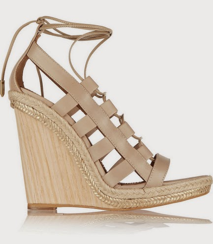 Aquazzura Amazon leather rope wooden wedge sandals