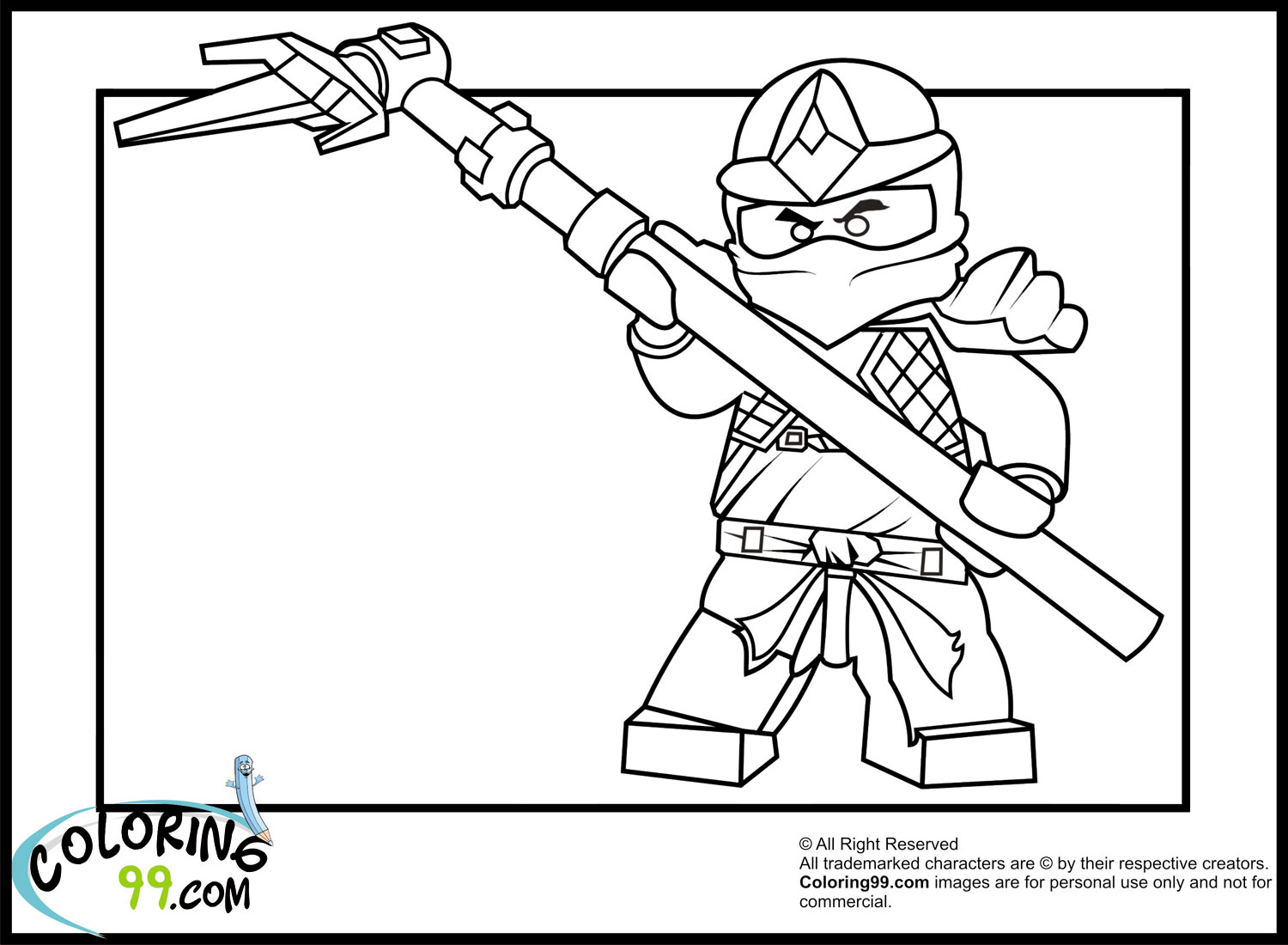 Ninja Coloring Pages Printable Easy Ninja Coloring Pages To