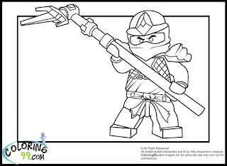 Lego Ninjago Cole Coloring Pages Team Colors