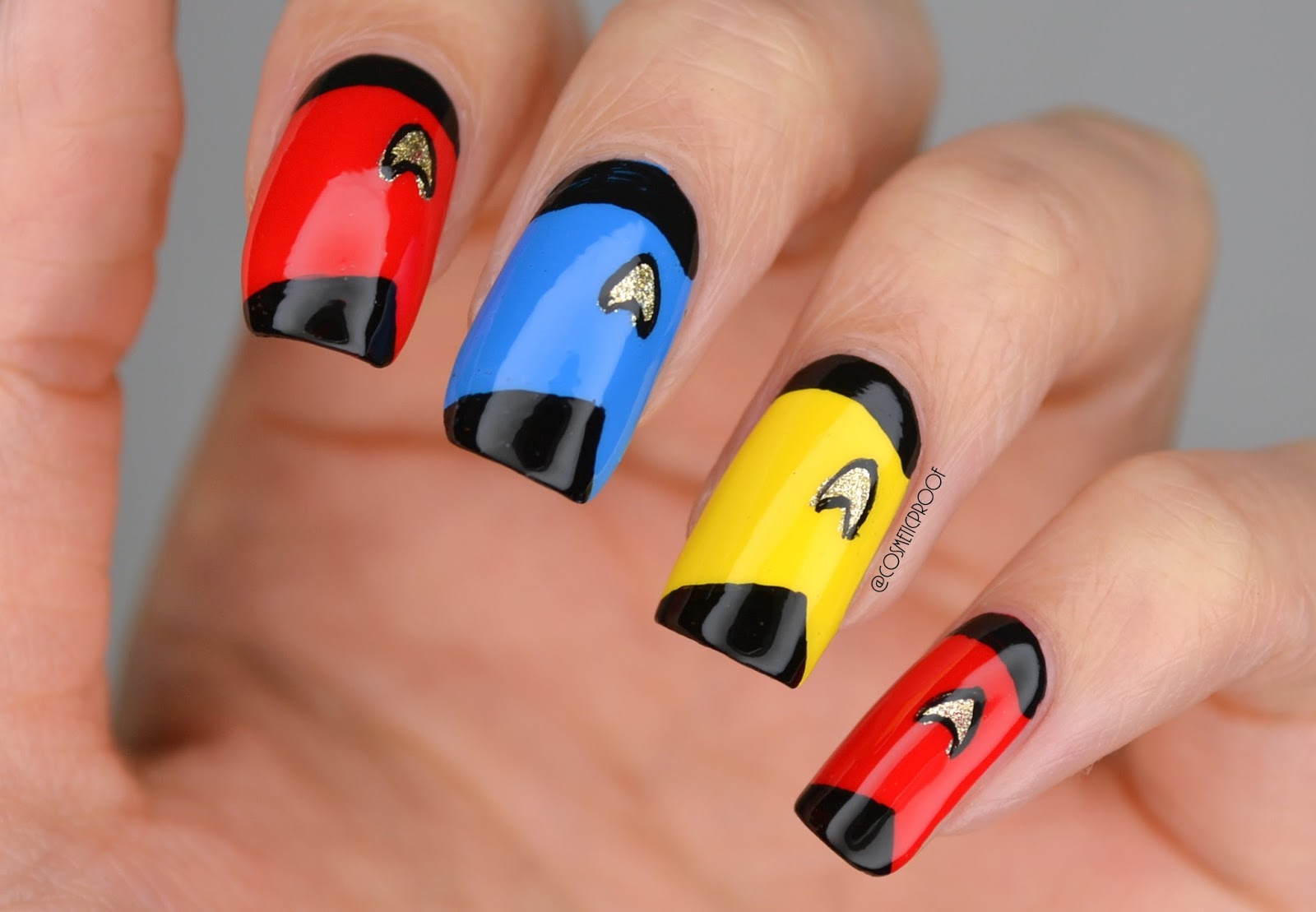 Nails Star Trek Sweaters Cosmetic Proof Vancouver Beauty Nail