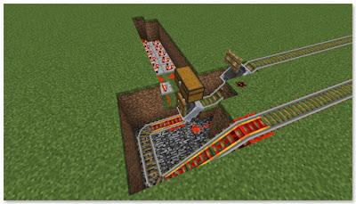 Minecraft トロッコ輸送 積み込み駅 複線 地下化②