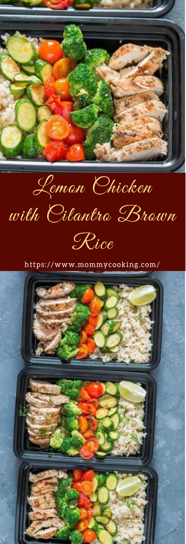 Lemon Chicken with Cilantro Brown Rice #dinnerrecipe #amazingrecipe