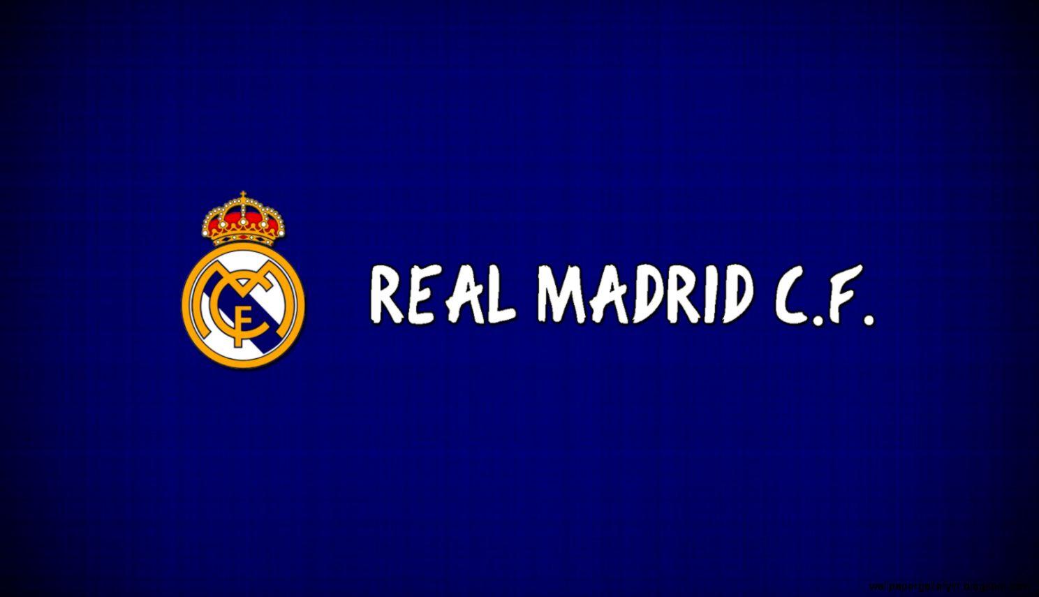 Real Madrid Blue Logo Hd Wallpaper Gallery
