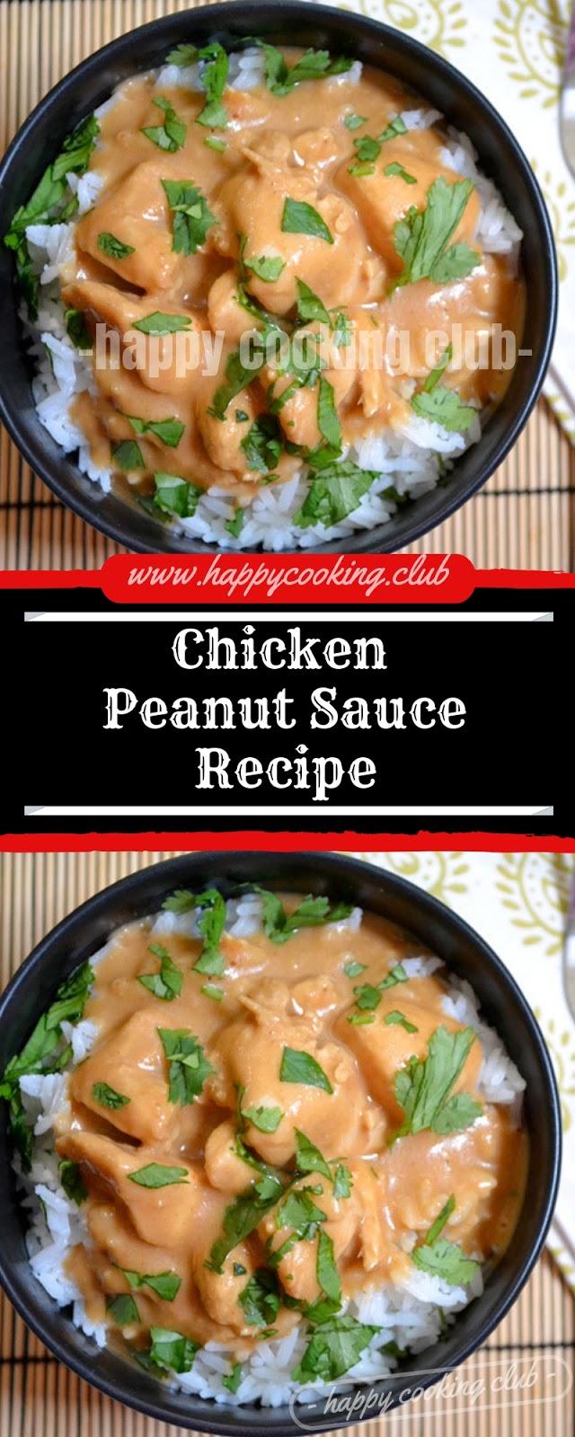 Chicken Peanut Sauce Recipe