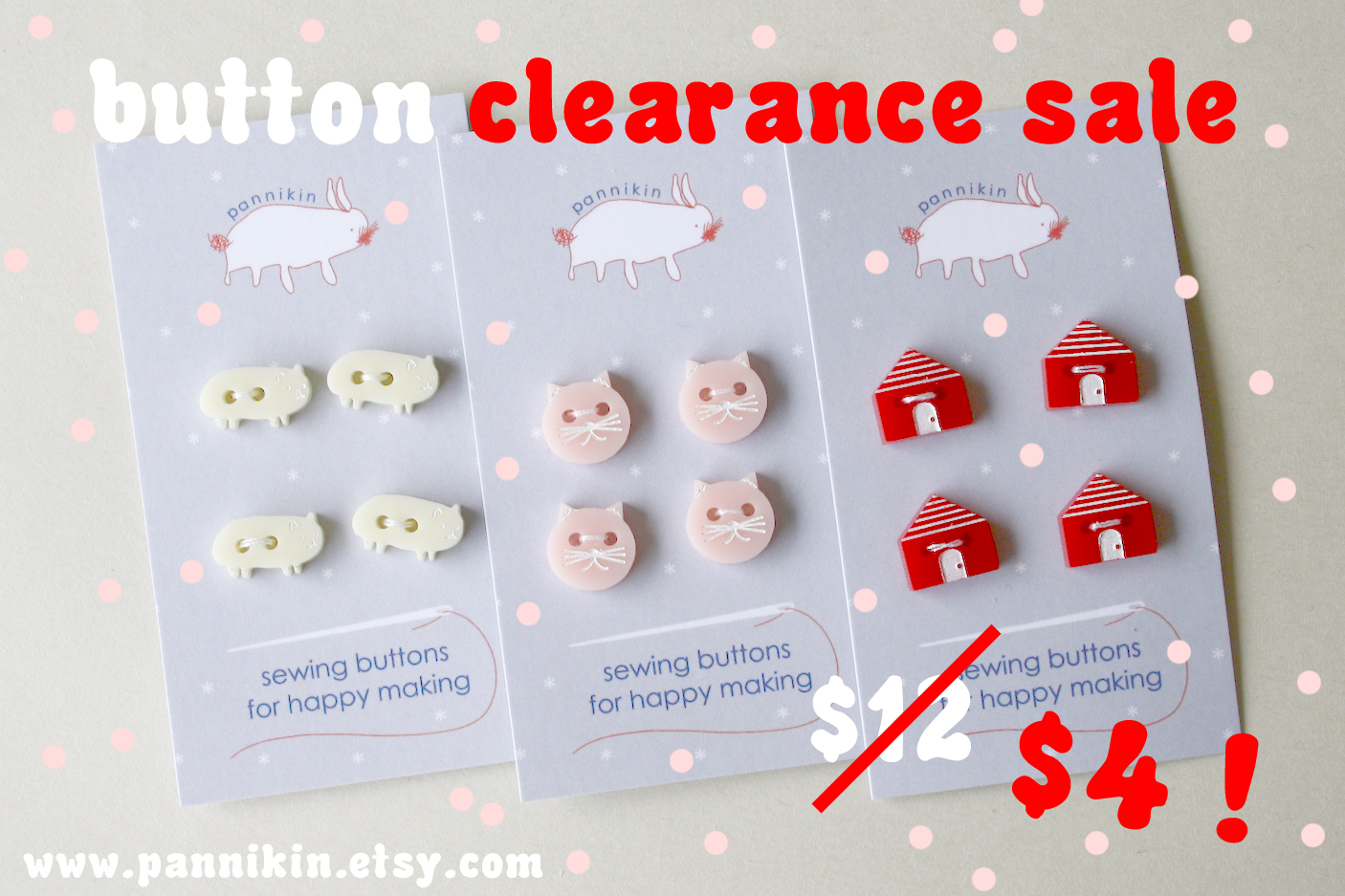 Pannikin button clearance sale
