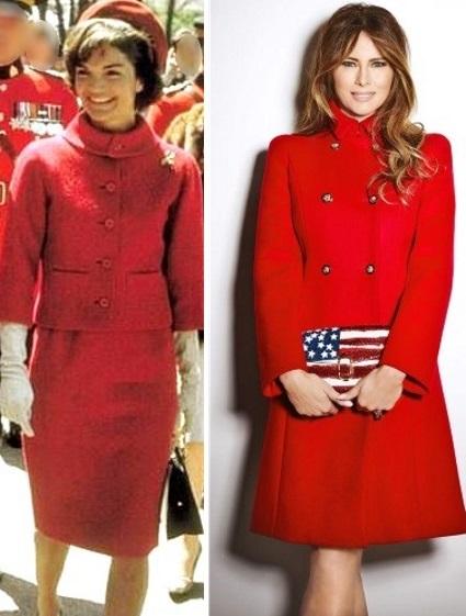 Jacqueline Kennedy e Melania Trump look vermelho