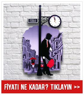 İstiklal Caddesinde Aşk Randevusu Duvar Saati