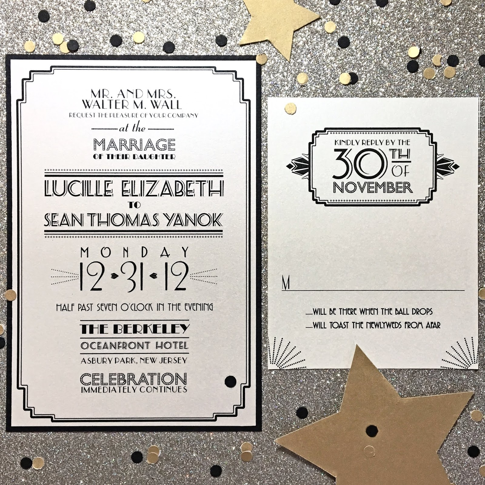 Art Deco Wedding Invitation: Invitations, Ink, Social Design Studio: New Year's Eve Art