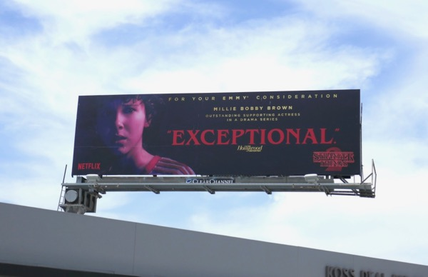 Millie Bobby Brown Stranger Things 2 Exceptional FYC billboard