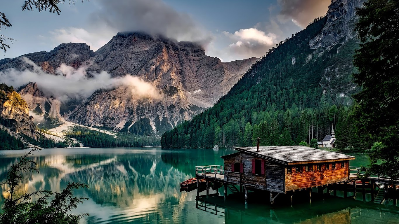 Lake Mountains Nature Cottage 4k 3840x2160 Wallpaper 30