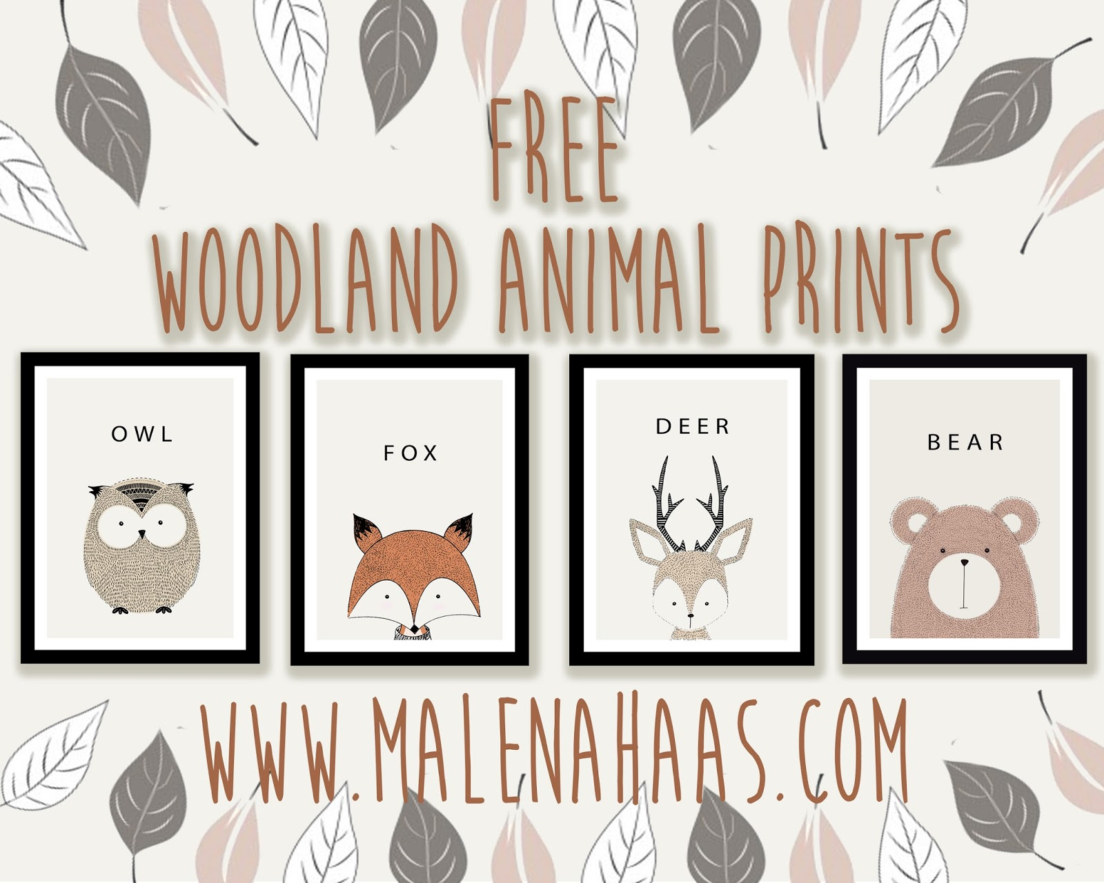 Malena Haas Free Woodland Animal Printables