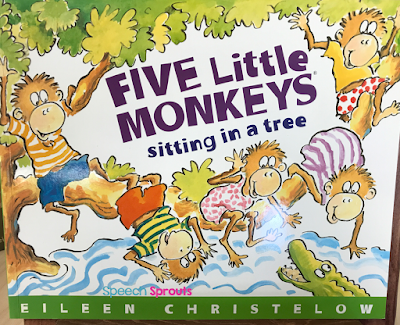 Five Little Monkeys Swinging in a Tree: Fun preschool speech and language activity ideas www.speechsproutstherapy.com