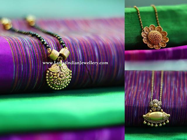 Plain Gold Mangalsutra Designs