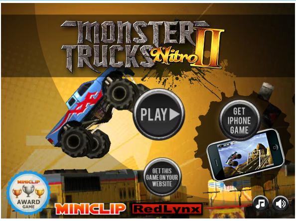 Free Flash Games Monster Truck Nitro 2