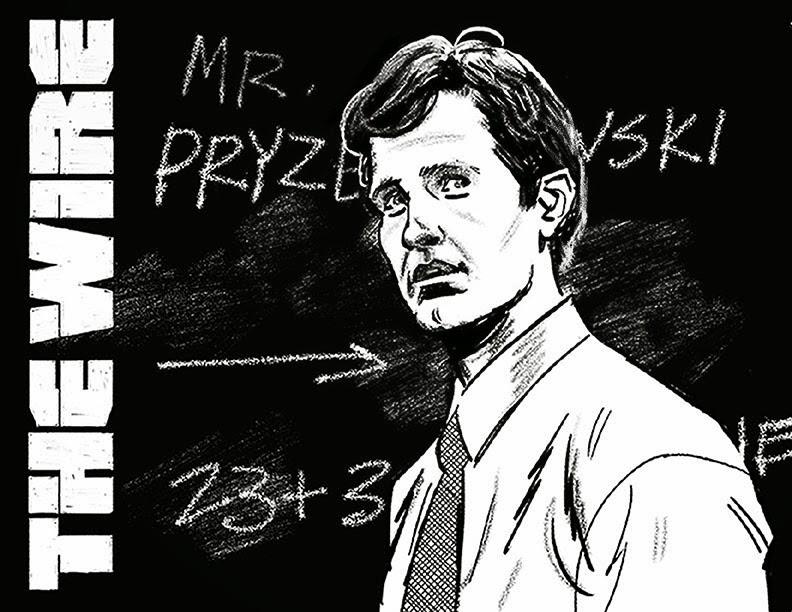"""Roland """"Prez"""" Pryzbylewski The Wire Greg Smallwood"""