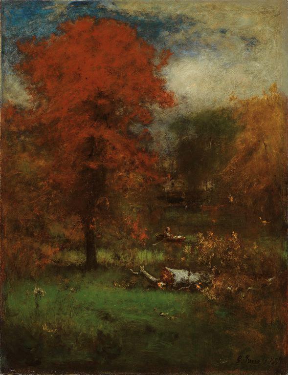 Pinturas de varias pocas el estanque george inness for Pintura para estanques
