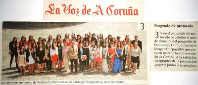 Postgrado Protocolo, Comunicación e Imagen Corporativa. Universidade da Coruña