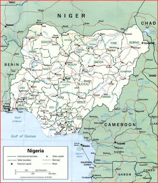 image: Nigeria political map