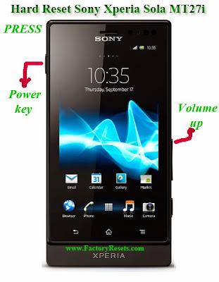 Hard Reset Sony Xperia Sola MT27i