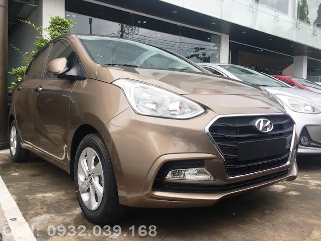 Hyundai i10 sedan 2021 Màu Nâu vàng cát