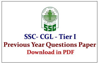 Ssc Previous Year Question Papers Pdf