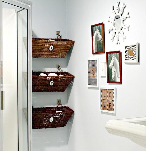 Recycler pour décorer salle de bain