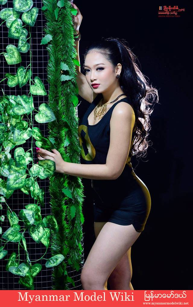 San Yati Moe Myint New Studio Photoshoot in Black Fashion Style