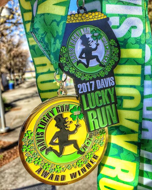 Davis Lucky Run medals 2017