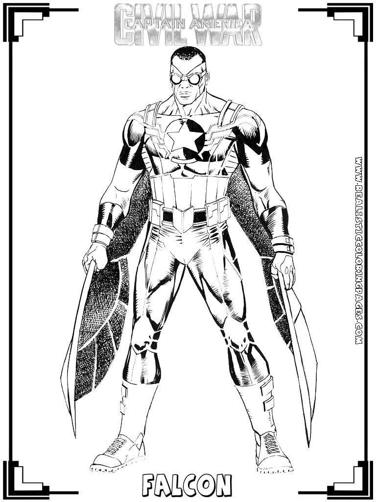 marvel falcon coloring pages - photo#31