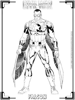 falcon captain america civil war coloring pages