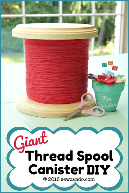 photo craft room decor thread spool container
