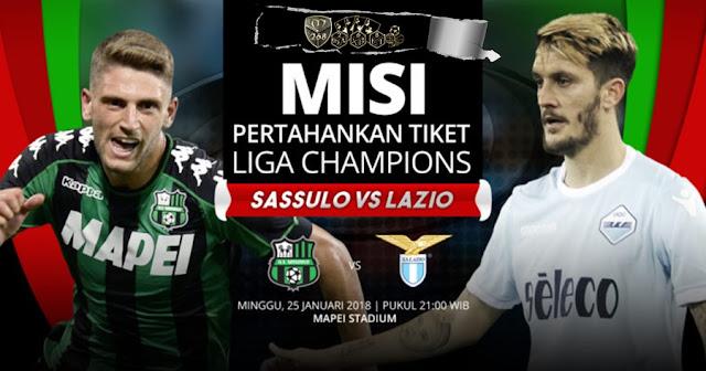 Prediksi Sassuolo Vs Lazio, Minggu 25 February 2018 Pukul 21.00 WIB