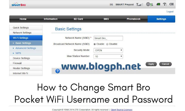 How to Change Smart Bro Pocket WiFi Username and Password