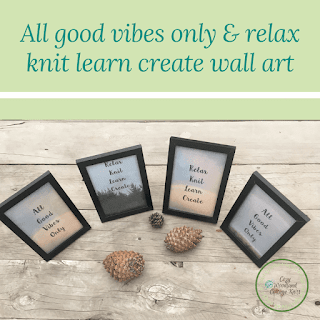 Picture of All good vibes only and relax knit learn create wall art